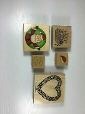 Rubber Stamps Lot Set 5 Holiday Christmas Easter Valentine's Day Santa