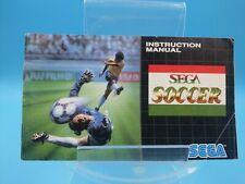 jeu video notice BE sega soccer megadrive