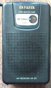 Aiwa CR-S3 AM Portable Pocket Radio - Works Great