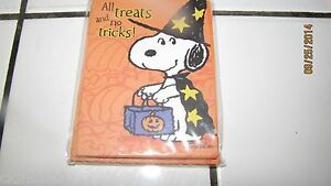 Snoopy(8) PEANUTS HALLOWEEN INVITATIONS Party Invites Snoopy Woodstock Cards New