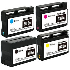 4PK HP 932 XL 933 XL Ink Cartridge for HP Officejet 6100 6700 6600 7100 & More