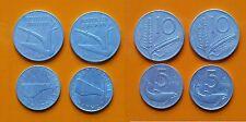 Repubblica Italiana 5 + 10 Lire 1953 Spiga Delfino