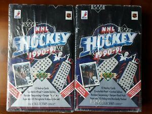 (2 boxes) 1990-91 Upper Deck Hockey High Series Sealed box JAGR & BURE RC