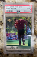 Tiger Woods 2001 Upper Deck Golf RC Rookie Card #1 PSA 9 MINT. INVESTMENT CARD!!
