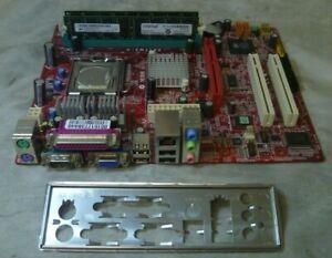 MSI 661FM3-V MS-7103 Ver:2.A Socket 775 MicroATX Motherboard W/Cpu & 1GB RAM