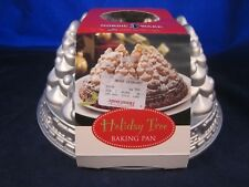 NORDIC WARE Holiday Tree w/ Train Cake Baking Pan 10 Cup HEAVY CAST ALUMINUM NEW