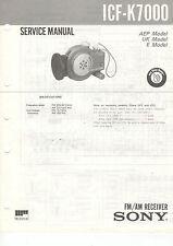 SONY Service Manual ICF-K7000- B2098