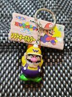 Vintage Mario Party Keychain 1998 Nintendo Banpresto RARE Figure[WARIO WITH TAG]