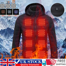 Heating Jacket Electric USB Heated Hoodie Padded Coat WarmUp Clothes Body Warmer
