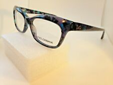 New Authentic Dolce & Gabbana 1232 2551 Blue Marble 53-16mm Eyeglasses Frames