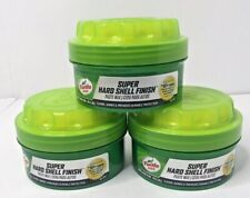 Lot of 3 Turtle Wax Super Hard Shell Finish Paste Wax 14oz Car Auto All Finishes