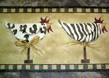 Animal Print Stripes Spots Chicken Wallpaper Wall Decor Border rooster kitchen