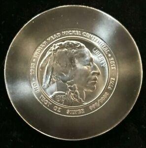 Daniel Carr 2013 Indian Head Buffalo Nickel Centennial .999 1 oz. Silver Round