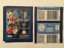 TOPPS 1 POCHETTE CHAMPIONS LEAGUE 2015 2016 PACKET NO PRICE BARCODE NO PANINI