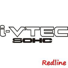 "High Quality 9.25''x2'' Set of 2 ""SOHC Vtec"" Racing Decal Sticker -Black Color"