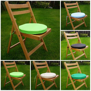 Round Bistro Chair Cover Cushion Seat Stool Tie Pads Kitchen Dining Removable