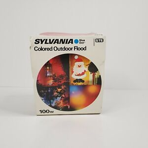 SYLVANIA Colored Outdoor Flood Light Bulb  GTE 1 Red Vintage