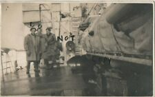 WW2 Sailor Group on deck of ship during Russian Convoy February 1943