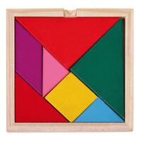Puzzle geometrique colore Jouet Geometric pour les enfants 7 piece I8A5