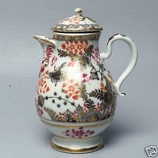 Old Early Vienna Porcelain Coffee or Chocolate Pot - Gaudy Rich Decoration - PC