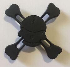 Skull Matte Chrome Fidget Spinner Handheld Toy (Black)