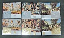 Guyana 1994 Year Of Dogs Gold and Silver 6v Sheets Full Set MNH