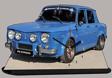 AUTO RENAULT8 GORDINI, R8 GORDINI -03, AUTO IN OROLOGIO MINIATURA