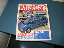 WHAT CAR ?   MAGAZINE  OCTOBER 1985   ENGLISH MONTHLY