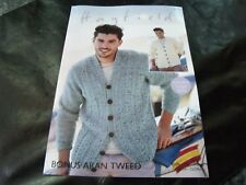 HAYFIELD BONUS ARAN KNITTING PATTERN 8100 81/86 - 132/137 CMS