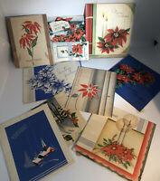 Vintage 1940's Greeting Card Lot Art Craft Collage Christmas Floral Paper