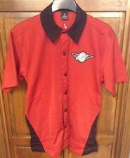 Air Jordan Nike Snap Button Warm Up Jacket Jersey Bulls Red Black Men's M 56323