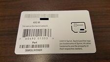NEW Micro SIM Card - SIMGLW206R / CZ2102LWR