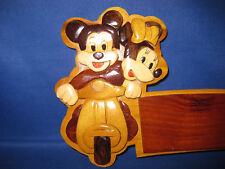 Disney Mickey / Minnie Mouse Wooden Handmade Bedroom Door / Wall Hanging Plaque
