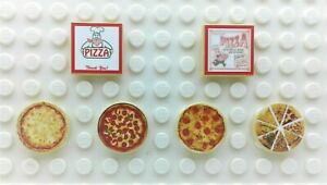 Custom MOC City Building Bricks Toys Mini Pizza Tiles Compatible with all Brands