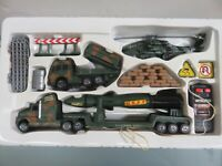 Battery Operated RC Rocket Transporter Military Toy