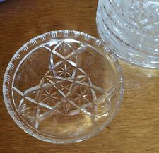 Crystal Desert Plate. set  of six. Made In Poland