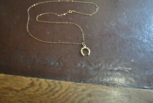 9ct Gold Horse shoe & chain