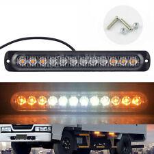 1x 12LED Amber White Strobe Light Truck Hazard Beacon Flash Warn Lamp Bar 12-24V