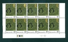 William Caxton Commemorative 10p Cylinder Block Traffic Light 10 Stamps Mnh 1976