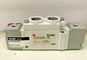 """SMC SYA7220-02 5/2 Double Pilot Air Operated Pneumatic Directional Valve 1/4"""""""