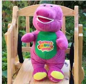 42cm Barney Dinosaur Plush Stuffed Soft Bear Doll Kid Baby With Music Pillow New