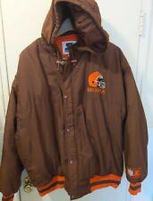 Vintage Starter Browns Hooded Jacket