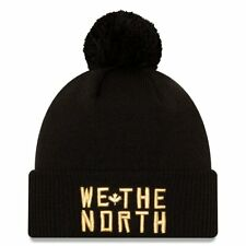 Men's Toronto Raptors New Era Black 2020/21 Alt City Edition Pom Knit Hat Toque