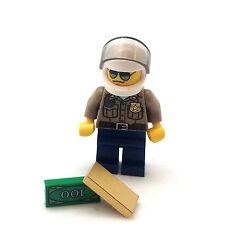 Lego City Minifigure Forest Police Pusuit Helmet Money Shades Jacket CTY276 4437