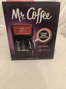 🔥🔥Mr. Coffee 12-Cup Programmable Coffee Maker, Red New Open BOX!!!!