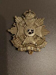 Original WW2 The Border Regiment Cap Badge vgc