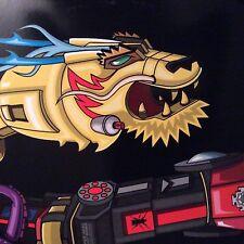 "DJ QBERT / SUPER SEAL "" GIANT ROBO V. 3 LEFT ARM 10"" YELLOW W/BLUE VINYL ROBOT"