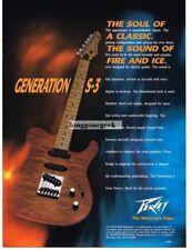 1991 Peavey Generation S-3 Electric Guitar Magazine Ad