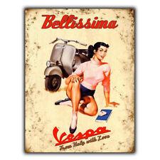 VESPA Bikes Italian Vintage Retro Advert METAL WALL SIGN PLAQUE GIFT man cave