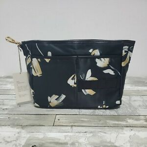 Womans Floral Bag Organizer - Multiple Pockets - Cosmetics Phone Personal Items